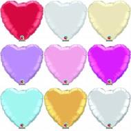 Folienherz in verschiedenen Farben