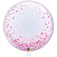 Deco -Bubbles XXL Konfetti rosa