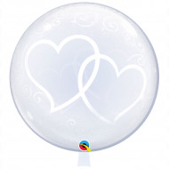 Deco -Bubbles XXL Double Hearts