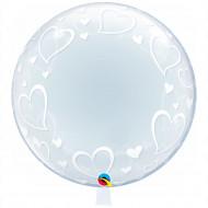 Deco -Bubbles XXL Hearts