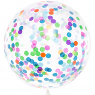 Konfetti-Ballon Riesenballon  bunt