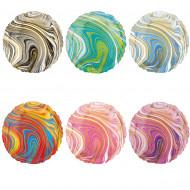 Folienballon Rund Farbverlauf  in verschiedenen Farben