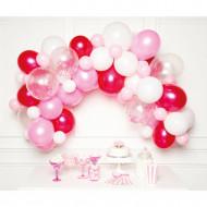 Ballongirlandenset rosa/weiß (DIY)