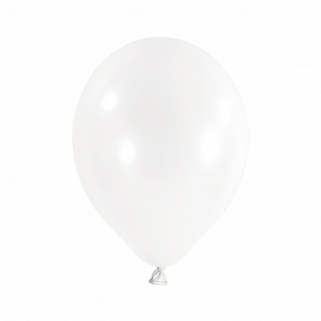 Rundballons - Weiß