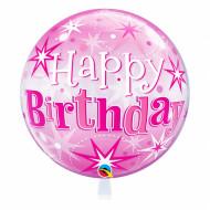 Happy Birthday pink 30 -  Bubble