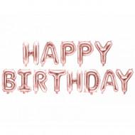 Schriftzug - Happy Birthday Rose Gold  LUFTFÜLLUNG