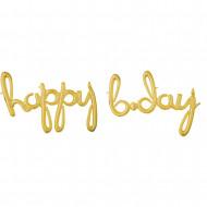 Happy b-day gold - Schriftzug LUFTFÜLLUNG
