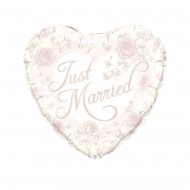Just Married Roses - 45 cm