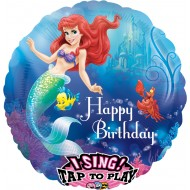 Singender Ballon - Happy Birthday  Arielle die Meerjungfrau