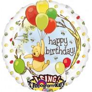 Singender Ballon - Happy Birthday Pooh