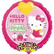 Singender Ballon - Happy Birthday Hello Kitty