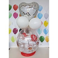 Geschenkballon Silberhochzeit