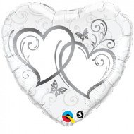 Entwined Hearts - Silber 90 cm