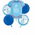 Folienstrauß - Baby Boy