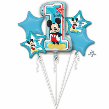 Folienstrauß - Mickey first Birthday