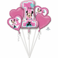 Folienstrauß - Minnie First Birthday