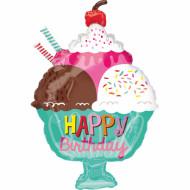 Eisbecher Happy Birthday