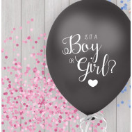Boy or Girl Ballon (rosa) 40cm