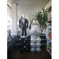 Ballonsäule Brautpaar