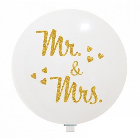Mr & Mrs Gold Riesenballon