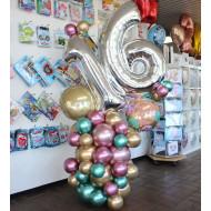 Ballonsäule Zahl organisch