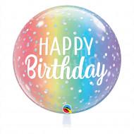 Happy Birthday Regenbogen -  Bubble
