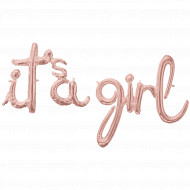 It`s a girl - Schriftzug LUFTFÜLLUNG